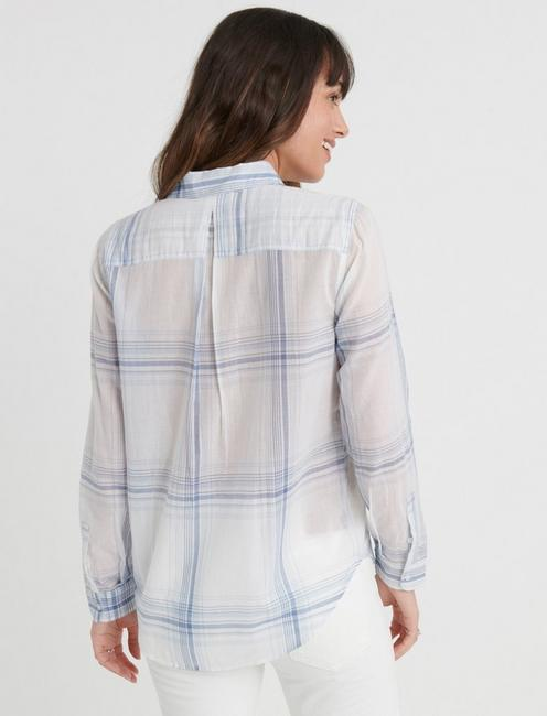 OPEN CHECK SHIRT, BLUE MULTI