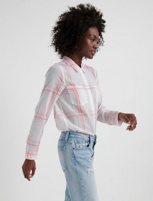 OPEN CHECK SHIRT, PINK MULTI