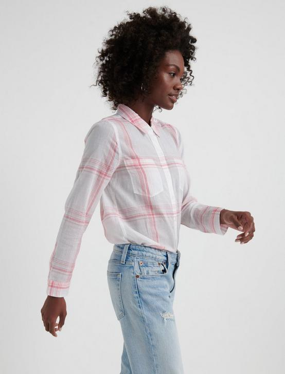 OPEN CHECK SHIRT, PINK MULTI, productTileDesktop