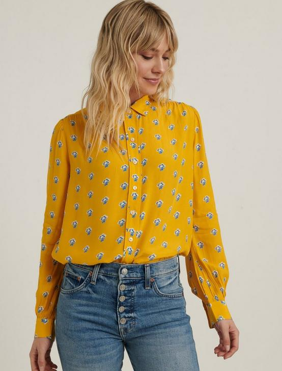 PRINTED HARLOWE SHIRT, YELLOW MULTI, productTileDesktop