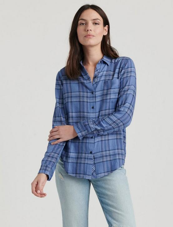 CLASSIC ONE POCKET PLAID SHIRT, BLUE MULTI, productTileDesktop