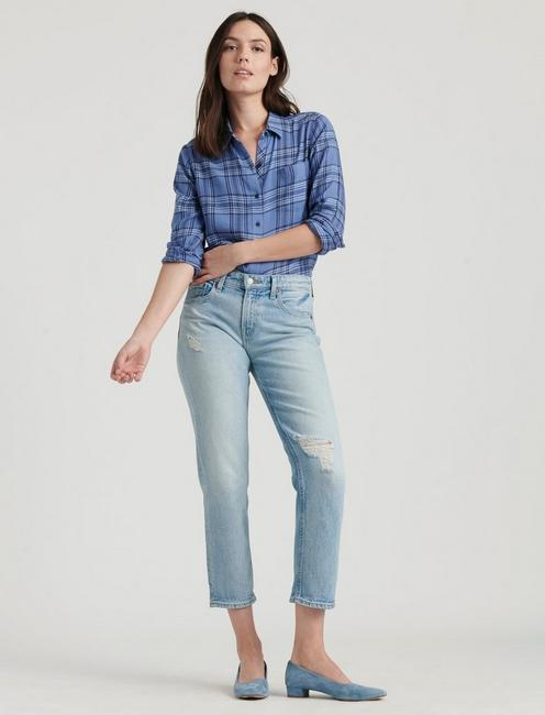 CLASSIC ONE POCKET PLAID SHIRT, BLUE MULTI