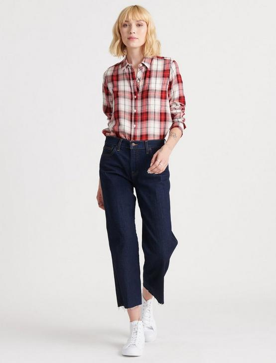 CLASSIC ONE POCKET PLAID SHIRT, RED MULTI, productTileDesktop