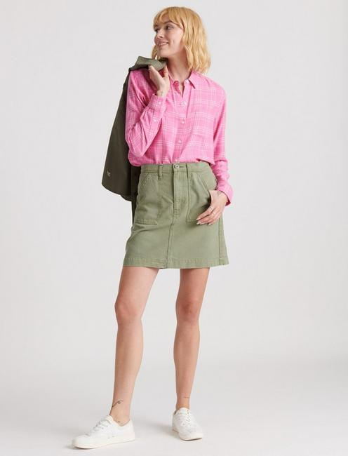 CLASSIC ONE POCKET PLAID SHIRT, PINK MULTI
