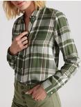 CLASSIC ONE POCKET PLAID SHIRT, OLIVE MULTI