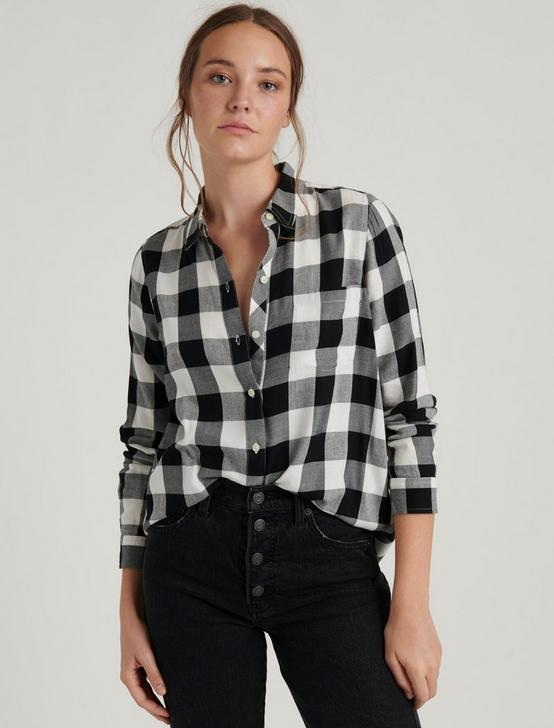 CLASSIC ONE POCKET PLAID SHIRT, BLACK MULTI, productTileDesktop