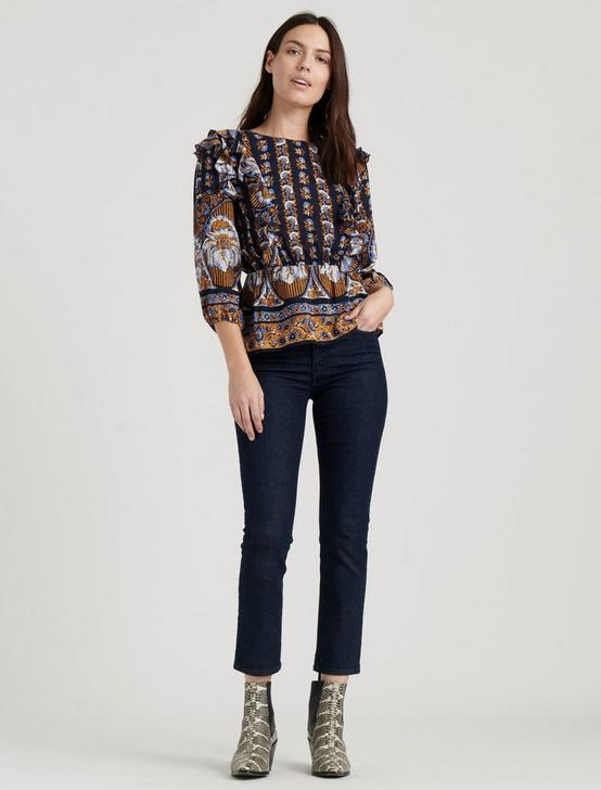 NANETTE TOP, NAVY MULTI, productTileDesktop