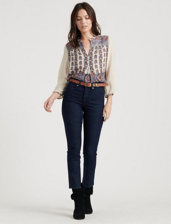RAMI PEASANT TOP, NATURAL MULTI, productTileDesktop