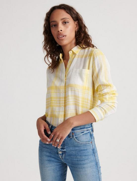 CLASSIC ONE POCKET PLAID SHIRT, YELLOW MULTI, productTileDesktop