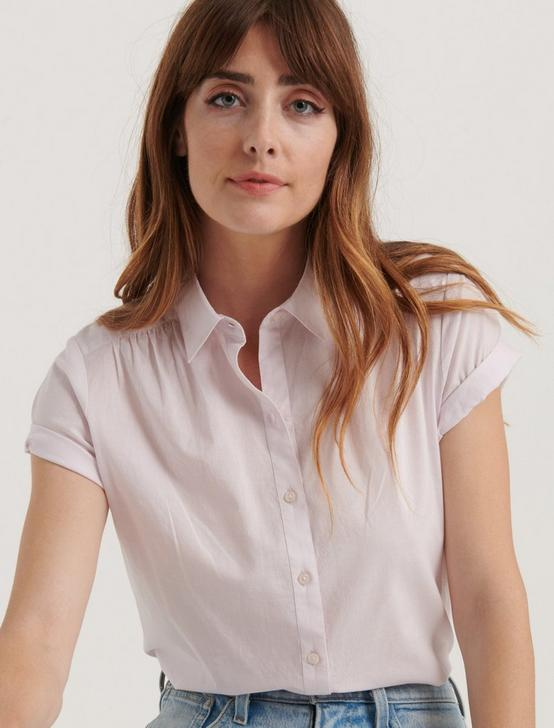AVERY SHORT SLEEVE SHIRT, LAVENDER FOG, productTileDesktop