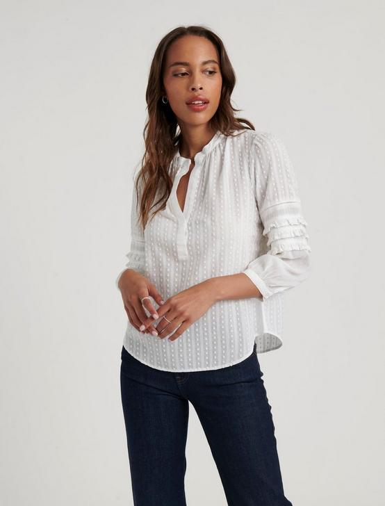 PEASANT TOP, LUCKY WHITE, productTileDesktop