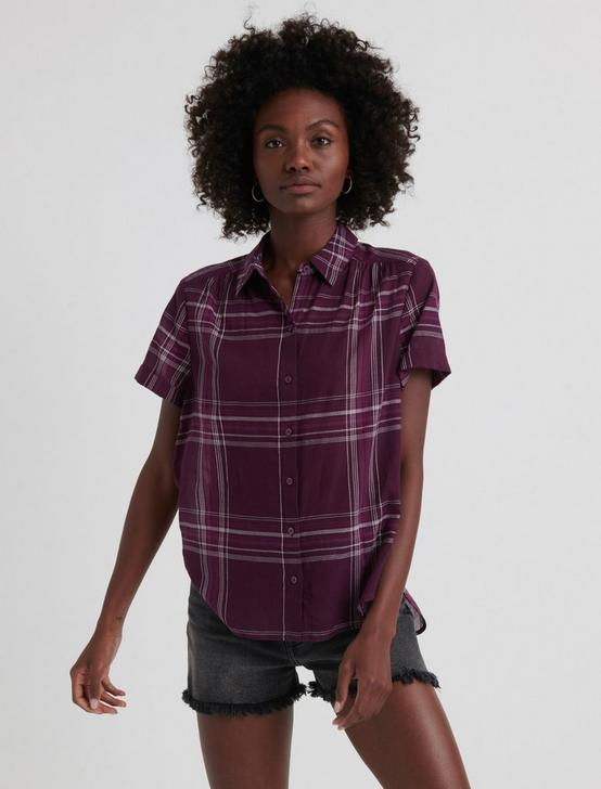 SHORT SLEEVE SHIRT, BURGUNDY MULTI, productTileDesktop