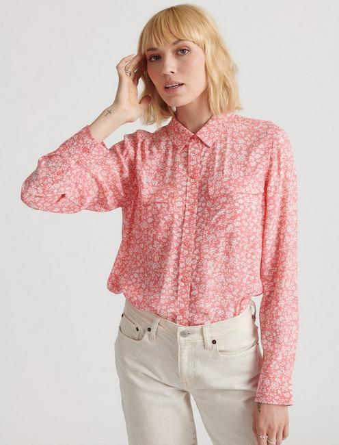 GEORGIA SHIRT, PINK MULTI