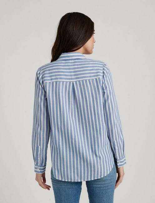 CLASSIC ONE POCKET STRIPE SHIRT, BLUE MULTI