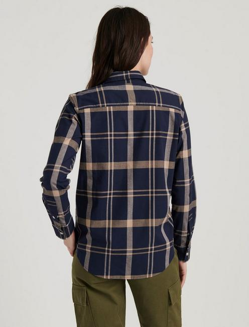 WESTERN PLAID SHIRT, NAVY MULTI