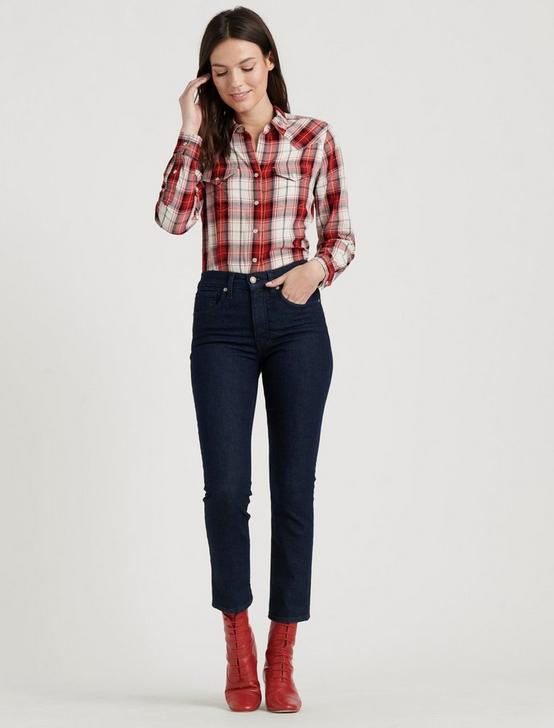 WESTERN PLAID SHIRT, RED MULTI, productTileDesktop