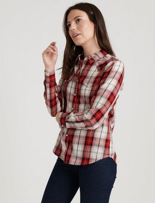 WESTERN PLAID SHIRT, RED MULTI