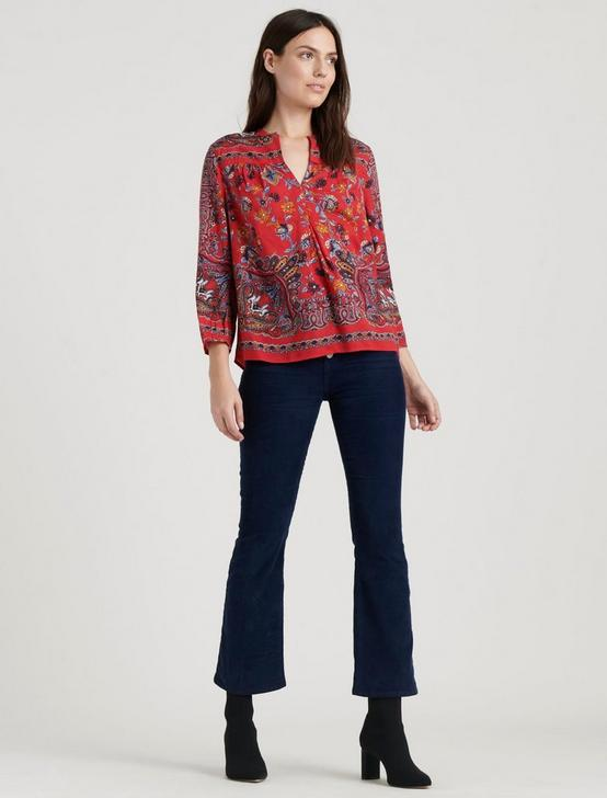 RAMI PEASANT TOP, RED MULTI, productTileDesktop