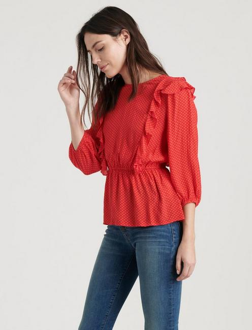 NANETTE TOP, TRUE RED