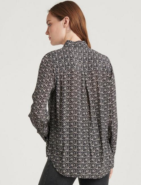 PRINTED GEORGIA SHIRT, BLACK MULTI