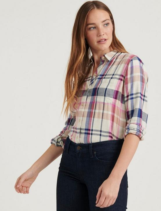 CLASSIC ONE POCKET PLAID SHIRT, NATURAL MULTI, productTileDesktop