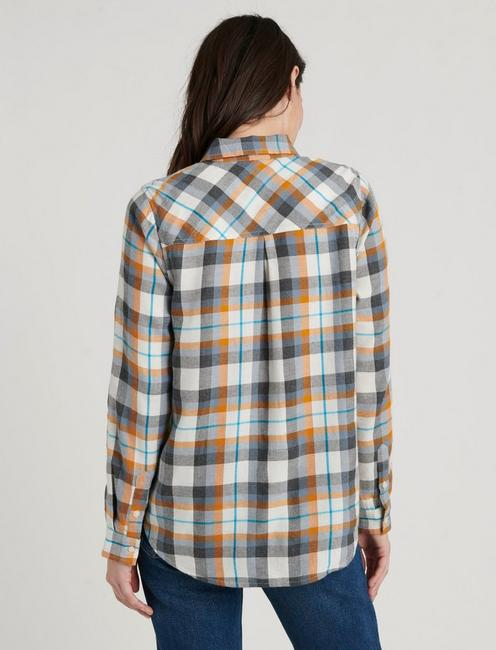 CLASSIC ONE POCKET PLAID SHIRT, CHARCOAL MULTI