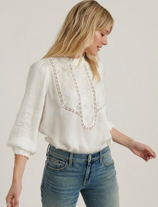 FLORENCE EMBROIDERED TOP, WHISPER WHITE, productTileDesktop