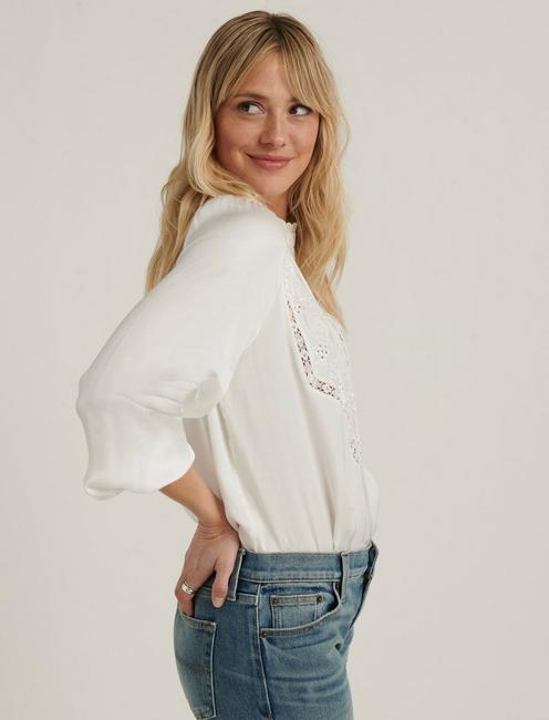 FLORENCE EMBROIDERED TOP, WHISPER WHITE