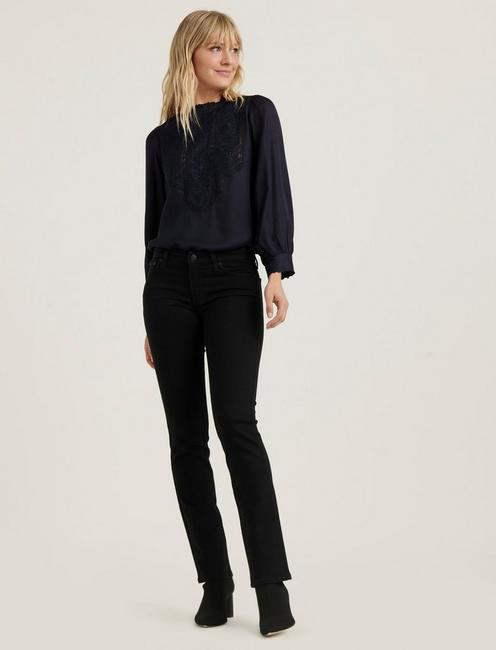 FLORENCE EMBROIDERED TOP, AMERICAN NAVY