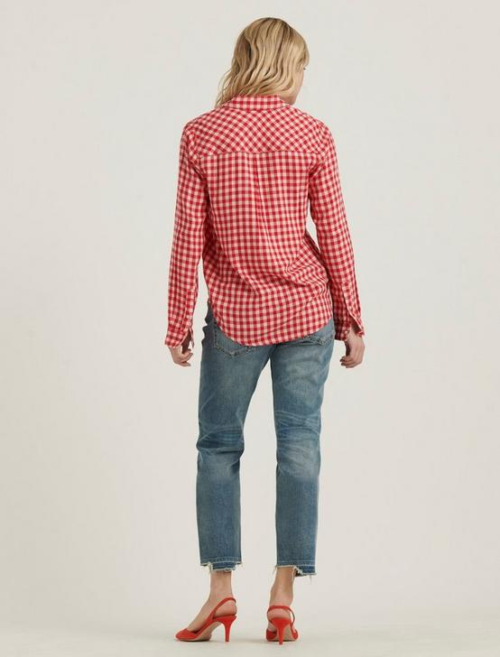 CLASSIC ONE POCKET PLAID SHIRT, PINK MULTI, productTileDesktop