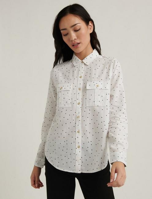 LAURA PRINTED UTILITY SHIRT,