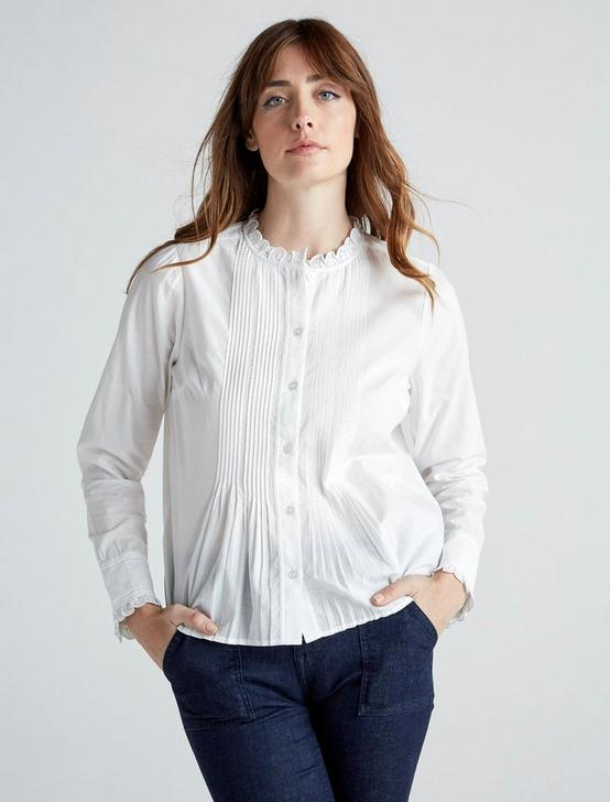 ELEANOR BLOUSE TOP, LUCKY WHITE, productTileDesktop