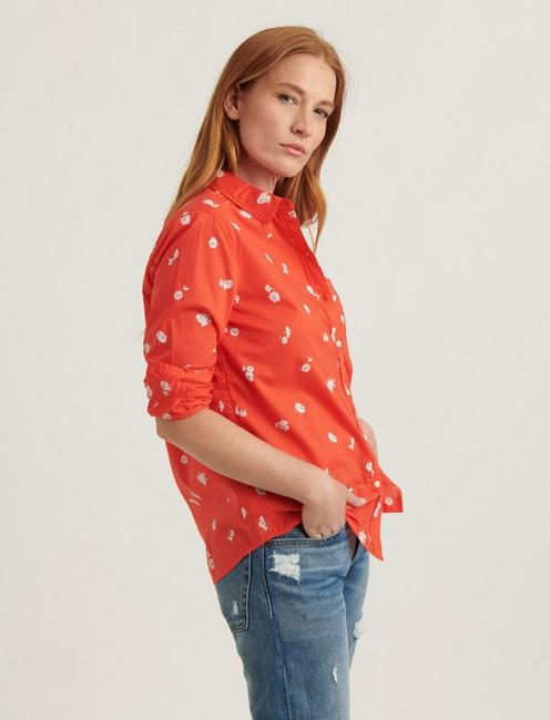 CLASSIC ONE POCKET SHIRT, RED MULTI