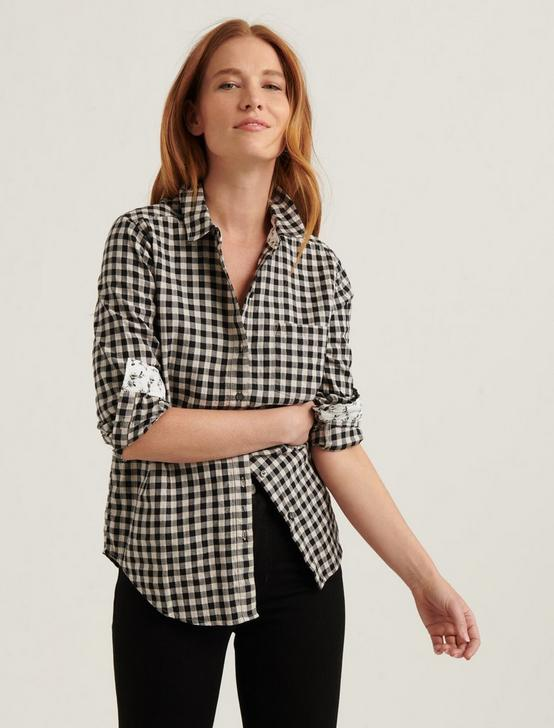 CLASSIC ONE POCKET SHIRT, BLACK MULTI, productTileDesktop