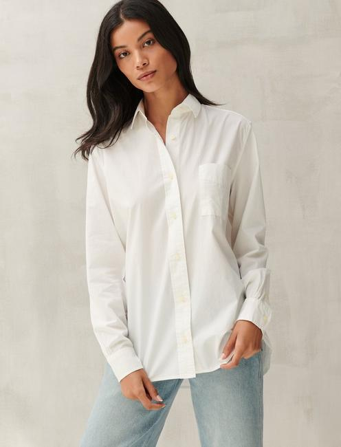 RELAXED SHIRT, LUCKY WHITE