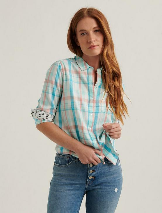 CLASSIC ONE POCKET SHIRT, MINT MULTI, productTileDesktop