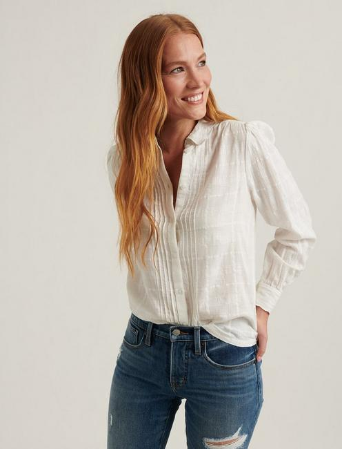 DEVON EMBROIDERED SHIRT, LUCKY WHITE