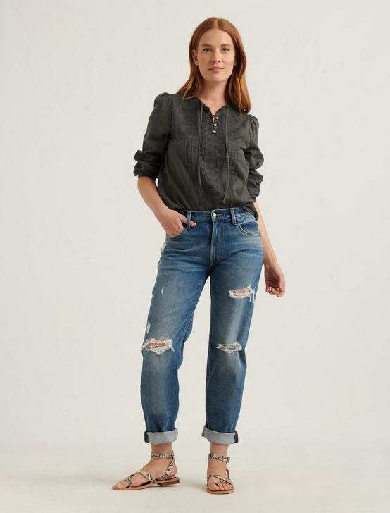 LILY EMBROIDERED POPOVER, DARK SHADOW, productTileDesktop