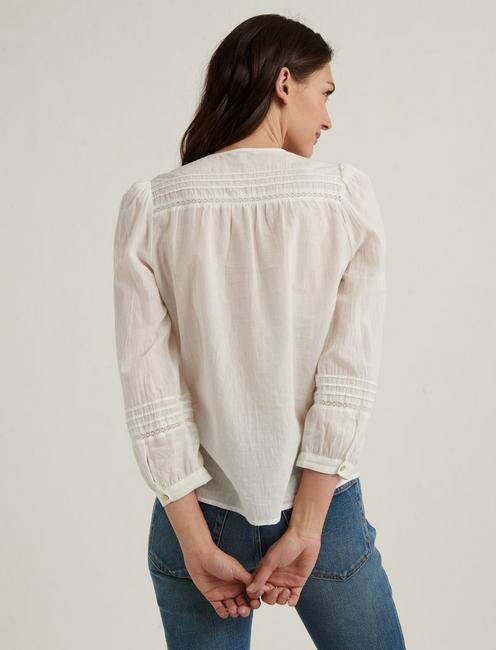 LILY EMBROIDERED POPOVER, LUCKY WHITE