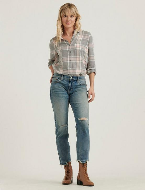 CLASSIC ONE POCKET PLAID SHIRT, GREY MULTI, productTileDesktop