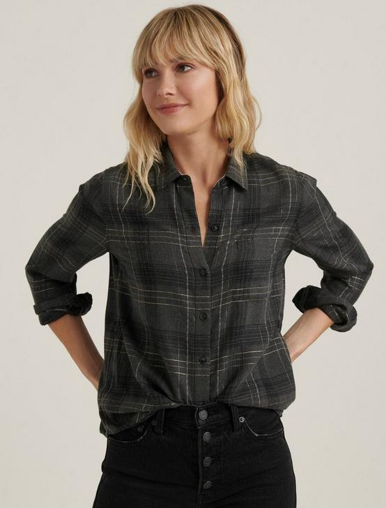CLASSIC ONE POCKET PLAID SHIRT, CHARCOAL MULTI, productTileDesktop