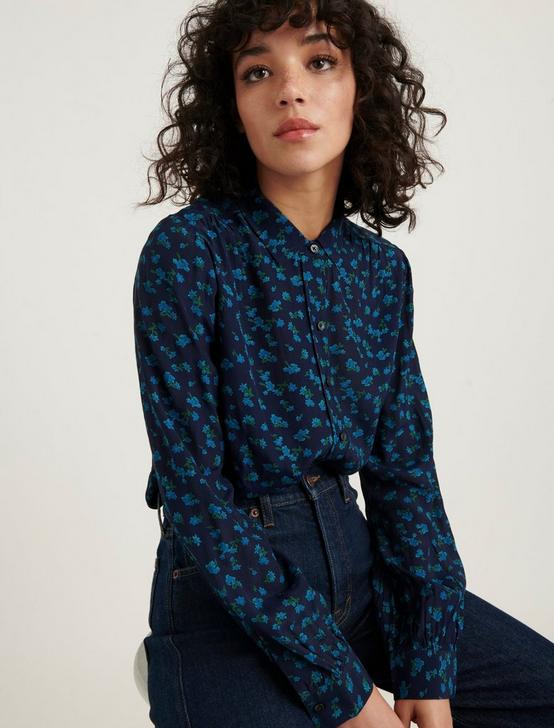 PRINTED HARLOWE SHIRT, NAVY MULTI, productTileDesktop