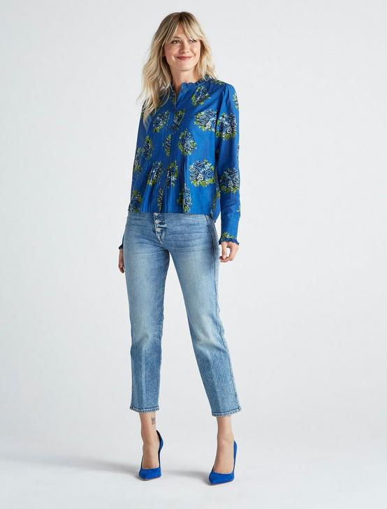 ELEANOR BLOUSE, BLUE MULTI, productTileDesktop