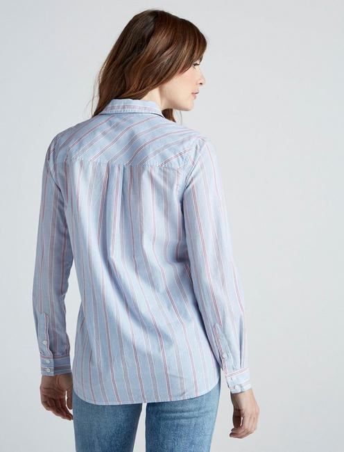 CLASSIC STRIPE TUNIC TOP, BLUE MULTI