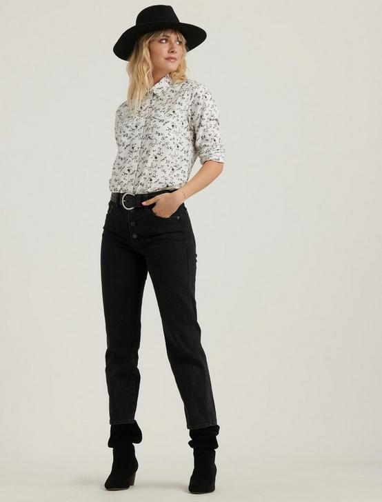 FLORAL WESTERN SHIRT, GREY MULTI, productTileDesktop