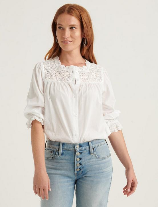 POPPY EYELET TOP, LUCKY WHITE, productTileDesktop