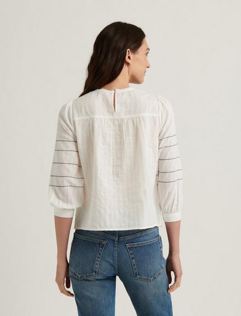 ZOEY EMBROIDERED PEASANT, LUCKY WHITE