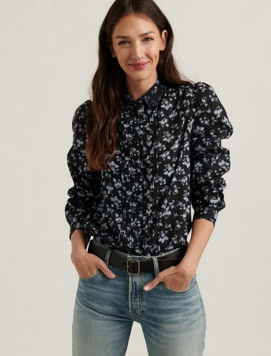 DEVON EMBROIDERED SHIRT, BLACK MULTI, productTileDesktop