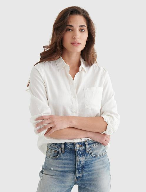 CLASSIC ONE POCKET SHIRT, LUCKY WHITE