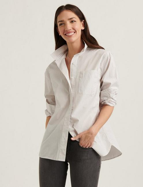 RELAXED SHIRT, KHAKI MULTI